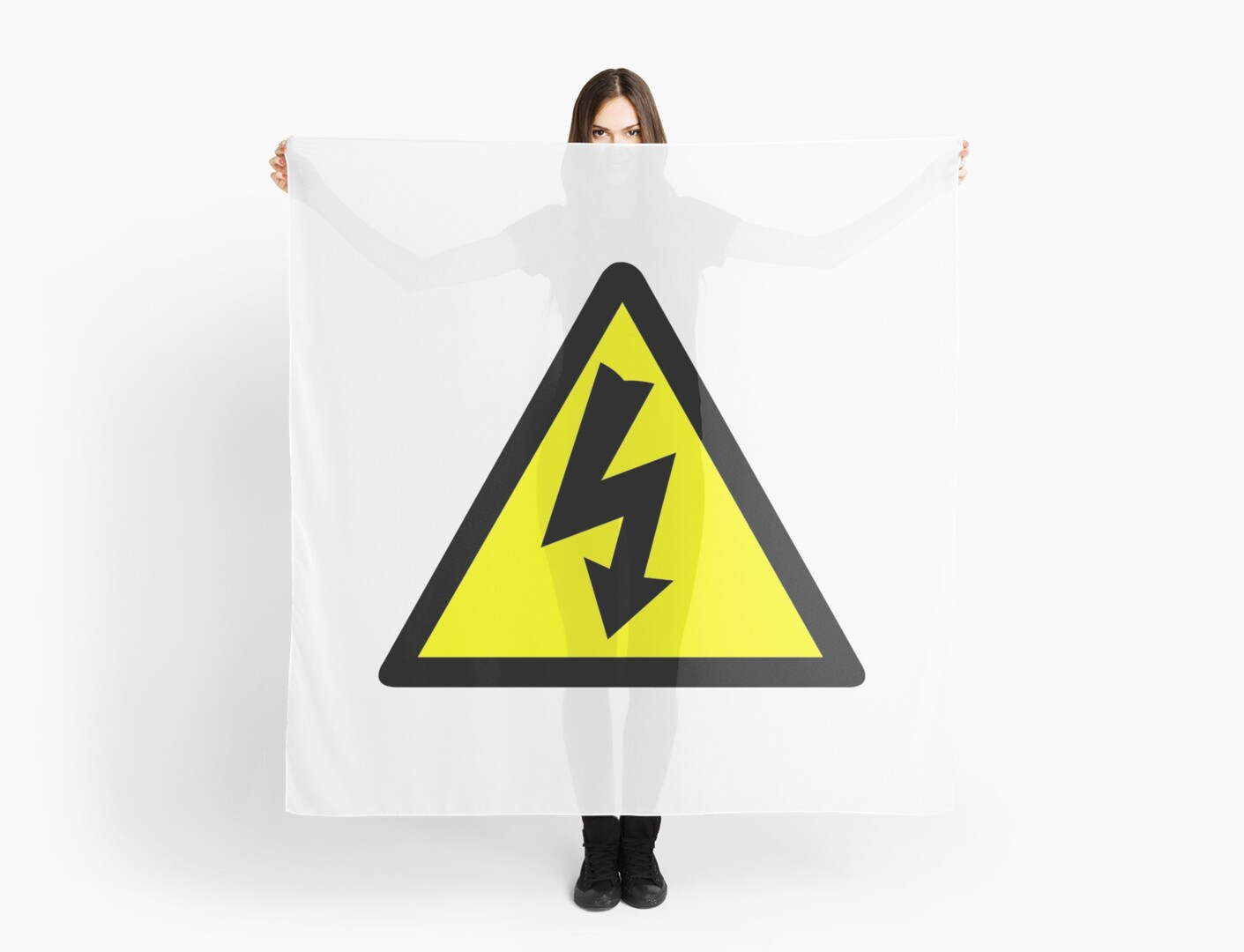 Electrical Warning Symbol Scarves By Sweetsixty Redbubble