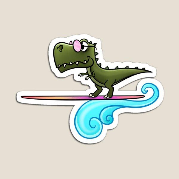 Surfing T-Rex Magnet