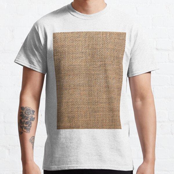 #Wicker, #roughlinen, #burlap, #sackcloth, sacking, bagging, холст, scrim, cloth, crash, власяница, hairshirt, haircloth, мешковина Classic T-Shirt