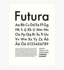 Typography Poster Futura Alphabet Art Print
