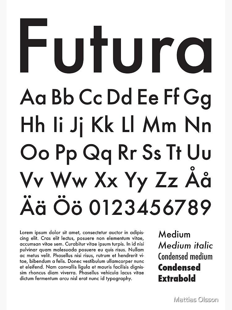 Typography Poster Futura Alphabet by mattiaso