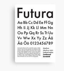Typography Poster Futura Alphabet Canvas Print