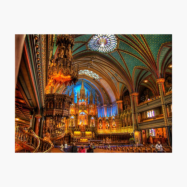 Notre-Dame Basilica in Montreal Photographic Print
