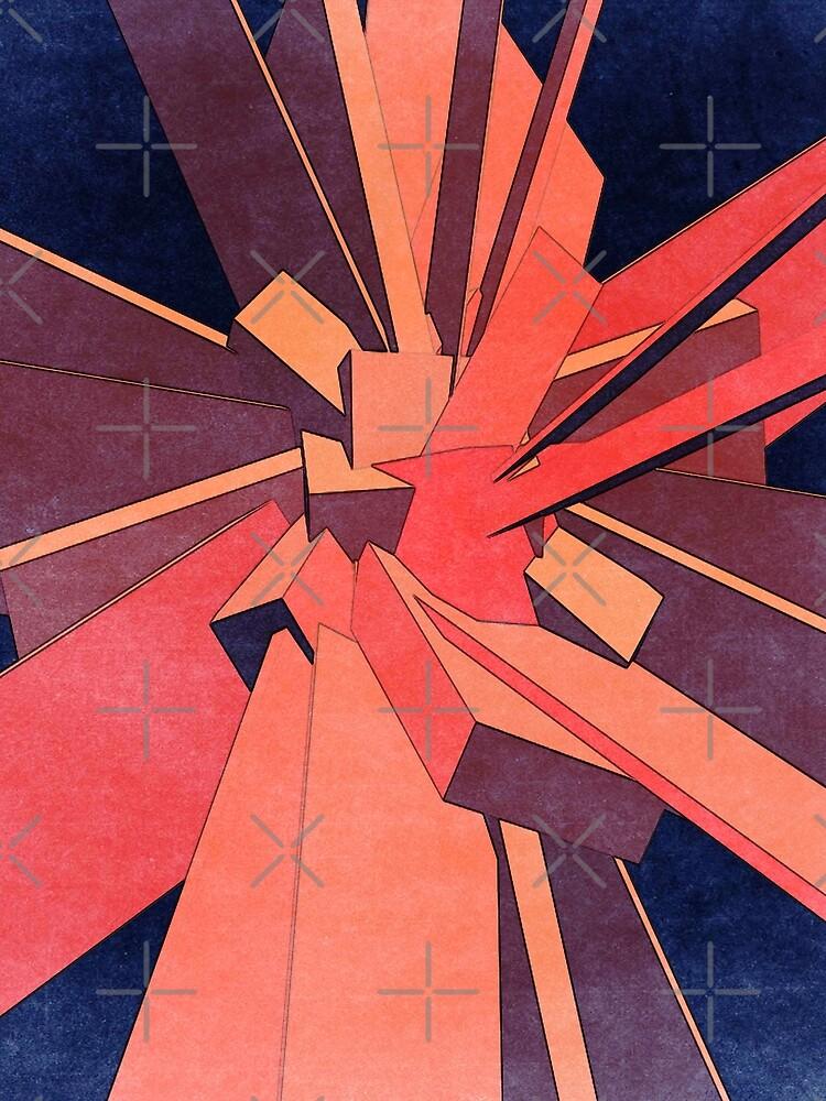 Vintage Orange Rectangles by perkinsdesigns
