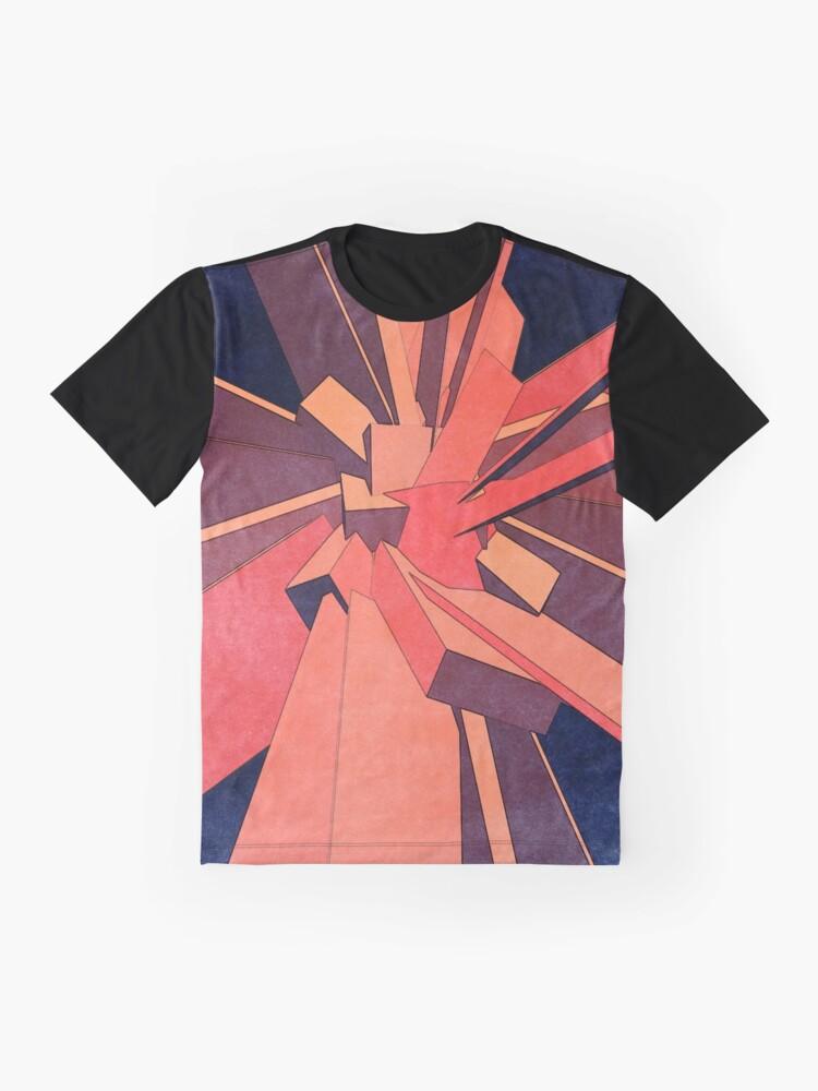 Alternate view of Vintage Orange Rectangles Graphic T-Shirt