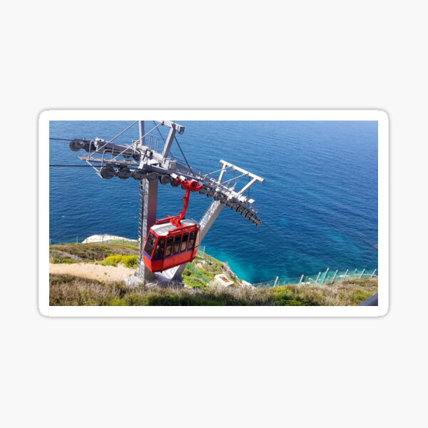 Red Cable Car Sticker