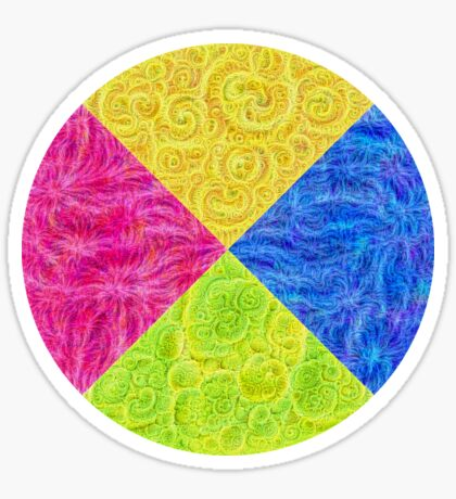 #DeepDream Color Circle Visual Areas 6x6K v1448932478 Sticker