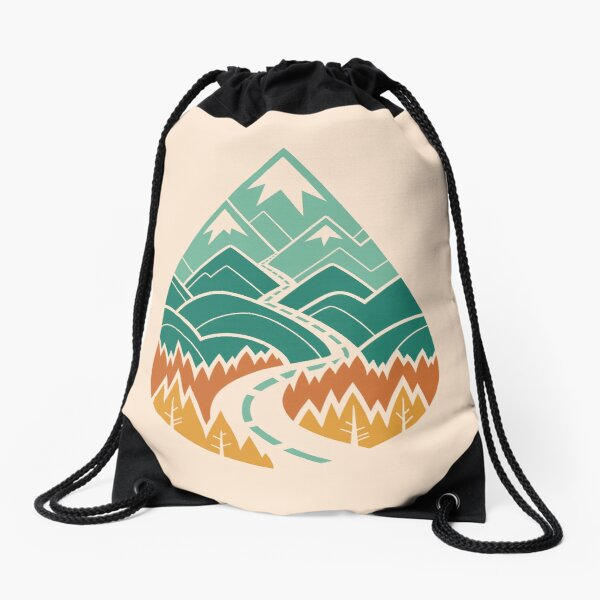 The Road Goes Ever On: Summer Drawstring Bag