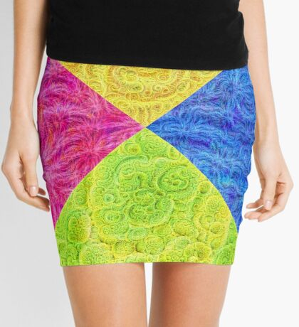 #DeepDream Color Circle Visual Areas 6x6K v1448932478 Mini Skirt