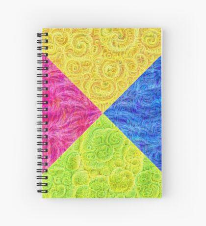 #DeepDream Color Circle Visual Areas 6x6K v1448932478 Spiral Notebook