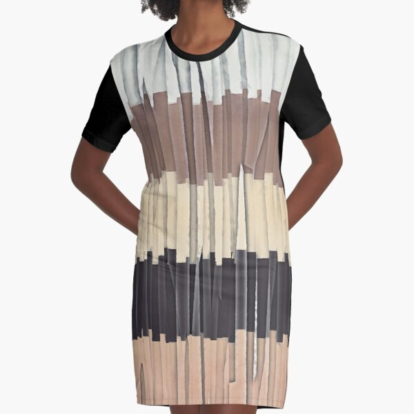 Shreds of Colors 3 Graphic T-Shirt Dress