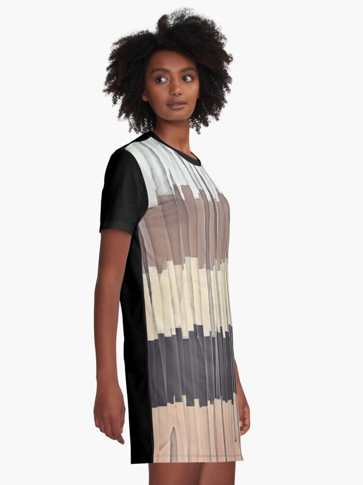 Alternate view of Shreds of Colors 3 Graphic T-Shirt Dress