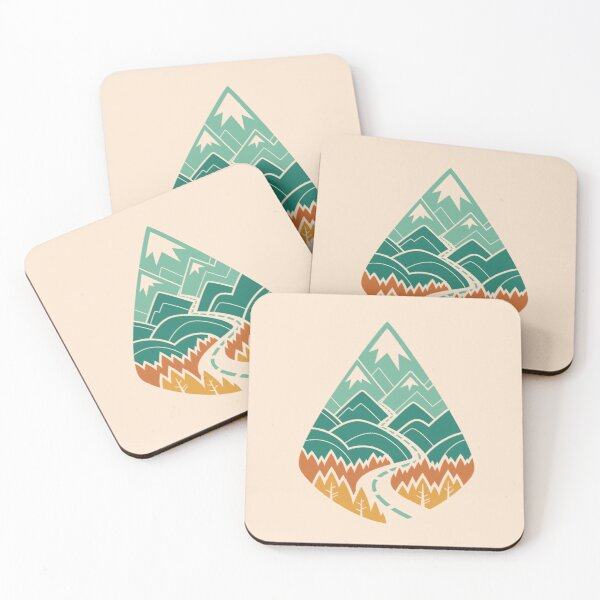 The Road Goes Ever On: Summer Coasters (Set of 4)