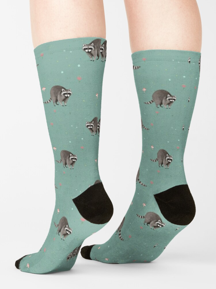 Alternate view of Little Raccoon Pattern Socks