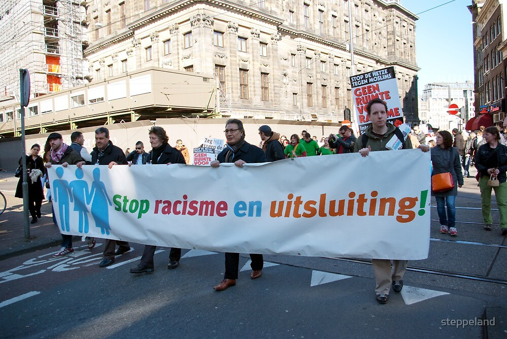 Demonstration against racism and exclusion - Amsterdam by steppeland