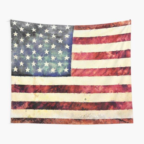 Vintage American Flag Tapestry