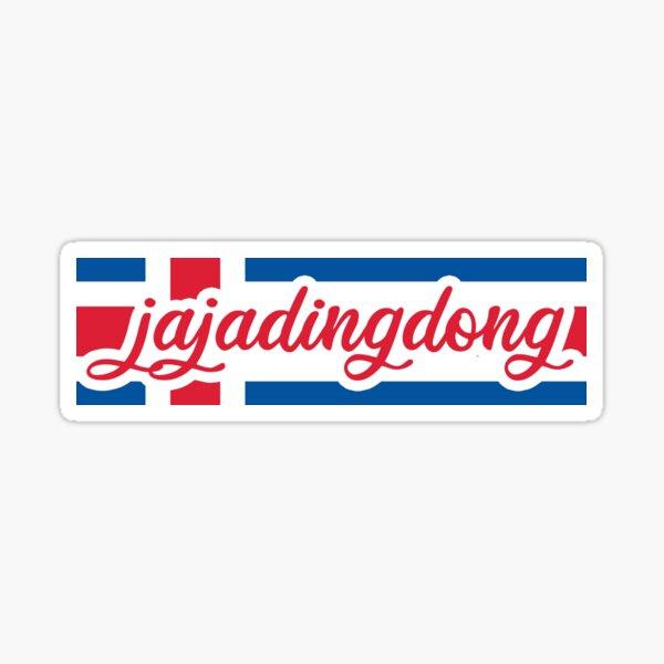 Jaja Ding Dong - Iceland flag Sticker