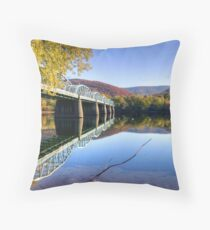 Arch Street Bridge In Autumn Throw Pillow