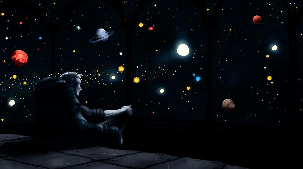 Far away in space by Downsea