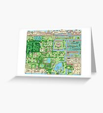 The map of all adventures Greeting Card
