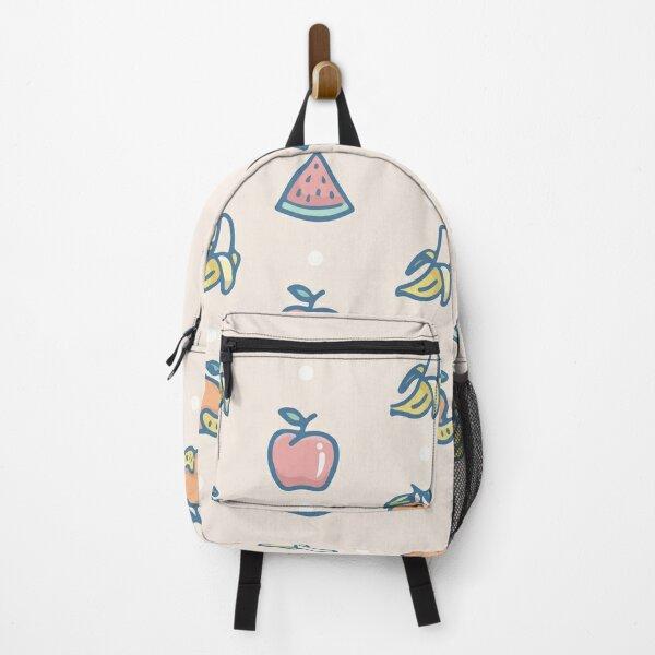 Refreshing tropical fruit apple banana and orange Backpack