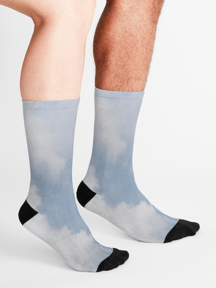 Alternate view of Blue and White Cloudy Sky Socks