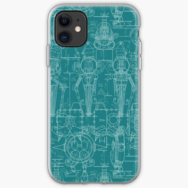 Mechtorian Plans ( Teal Version ) iPhone Soft Case