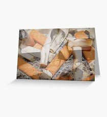 Cigarette chaos. Greeting Card
