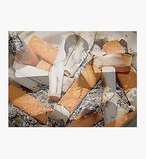 Cigarette chaos. Photographic Print