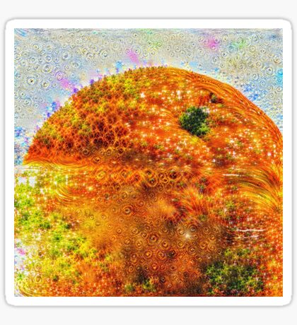 #DeepDreamed Frozen Orange Sticker