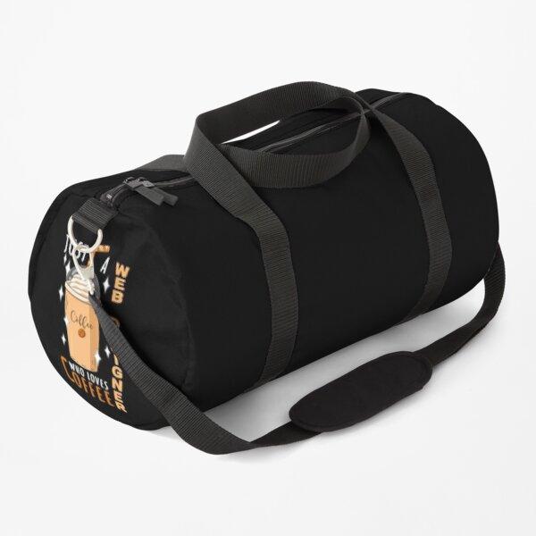 Web Designer Just Loves Coffee Quote Design Duffle Bag