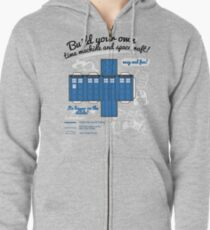 Build your own time machine and spacecraft! Zipped Hoodie