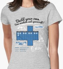 Build your own time machine and spacecraft! Women's Fitted T-Shirt