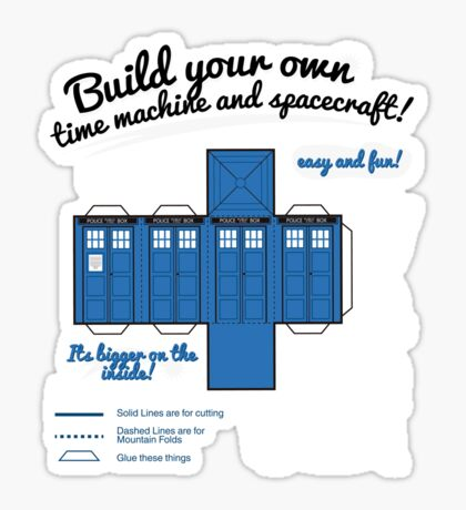 Build your own time machine and spacecraft! Sticker