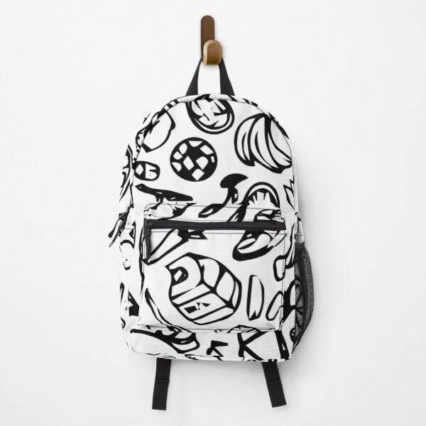 Healthy lifestyle seamless pattern hand drawn Backpack