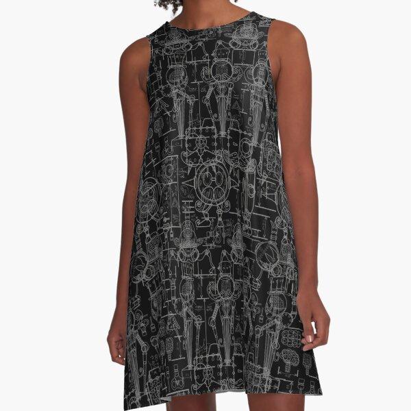 Mechtorian Plans ( Black Version ) A-Line Dress