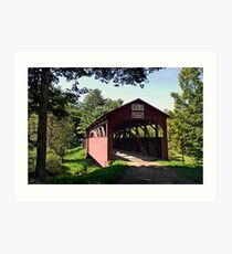 Approaching The Buckhorn Covered Bridge From The Far Side Art Print