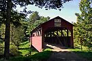 Approaching The Buckhorn Covered Bridge From The Far Side by Gene Walls