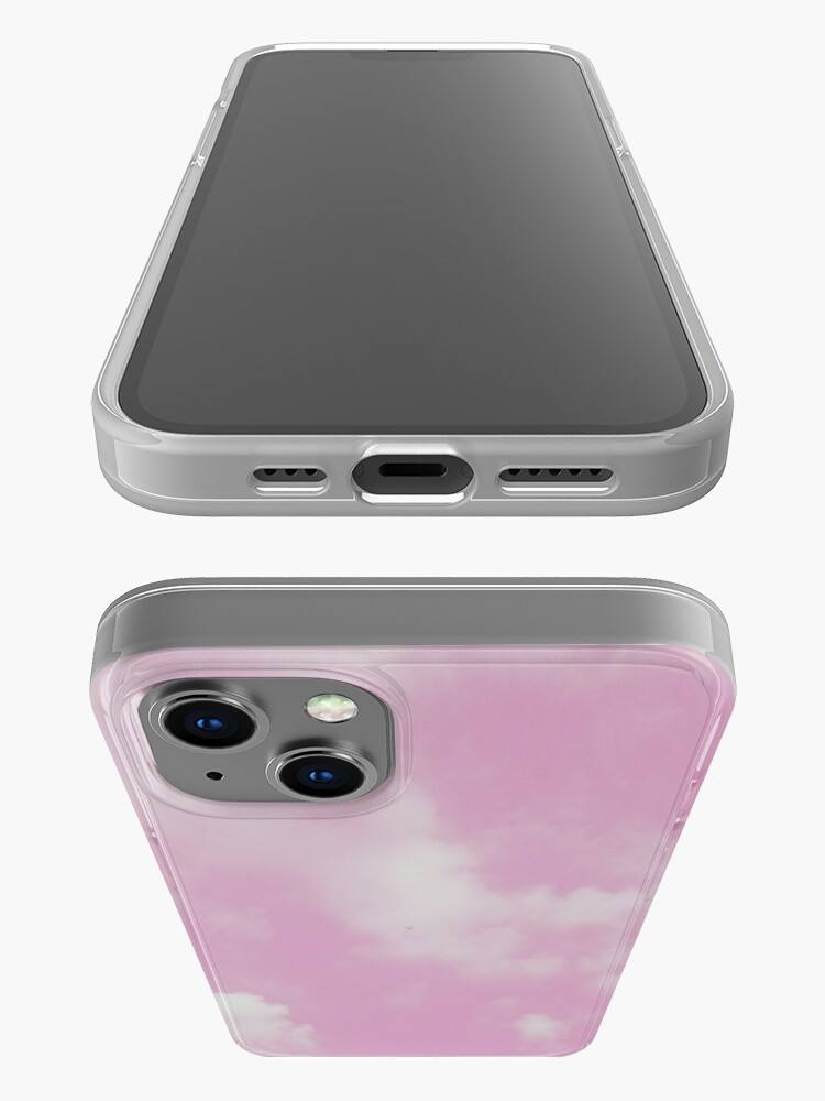Alternate view of Pastel Pink and White Cloudy Sky iPhone Case