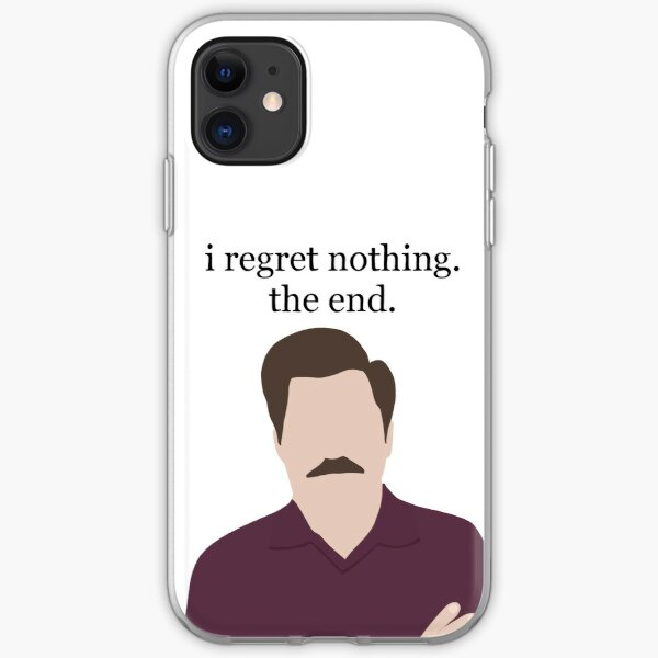 Ron Swanson Portrait and Quote iPhone Soft Case