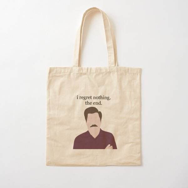 Ron Swanson Portrait and Quote Cotton Tote Bag