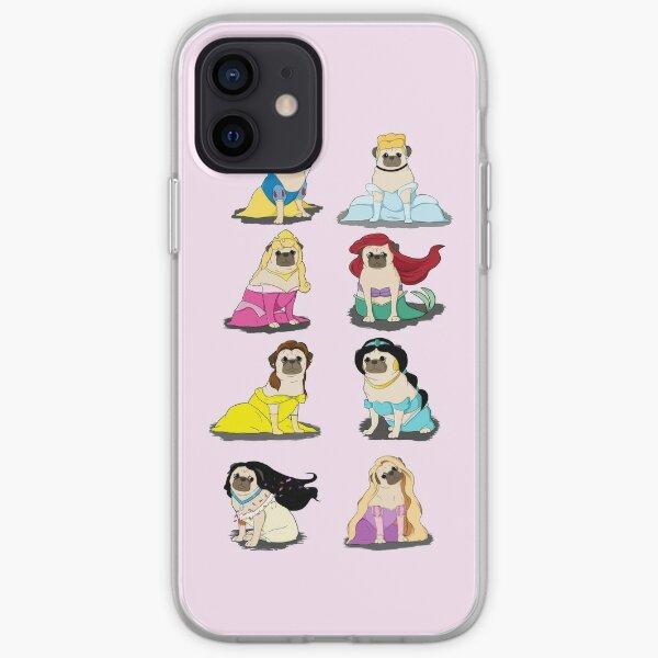 Pug Princesses Version 2 iPhone Soft Case