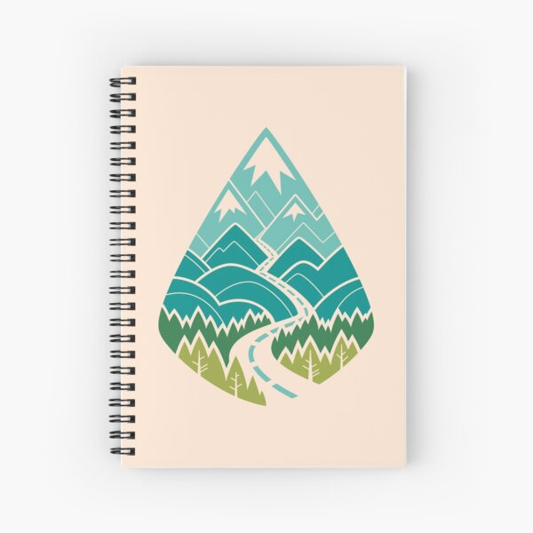 The Road Goes Ever On: Spring Spiral Notebook