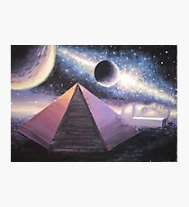 The pyramid and the fac in the Cydonia region on Mars painting Photographic Print