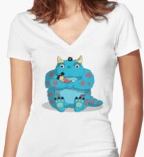 My Neighbor Sully Women's Fitted V-Neck T-Shirt