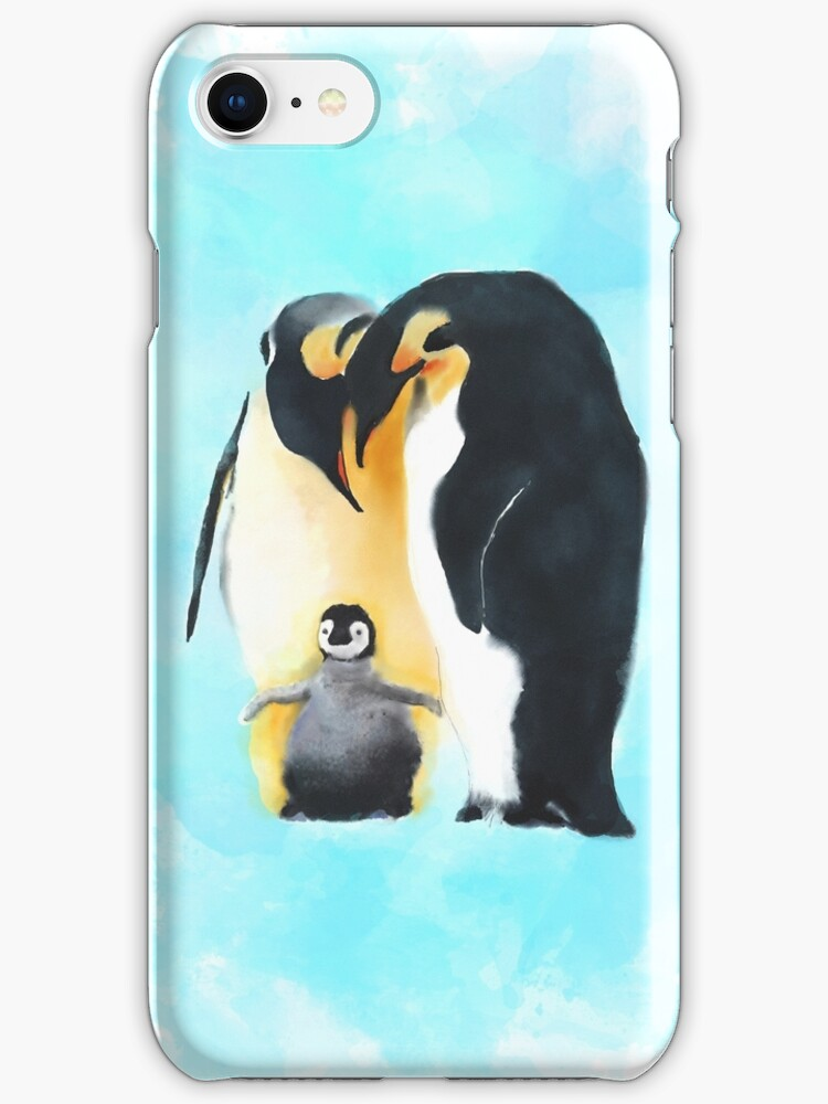 Penguin Family by Joan A Hamilton