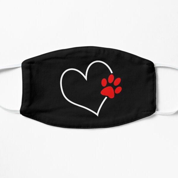 Paw on my heart Flat Mask