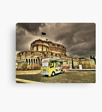 Gelateria: Castel Sant'Angelo, Rome (HDR) Canvas Print