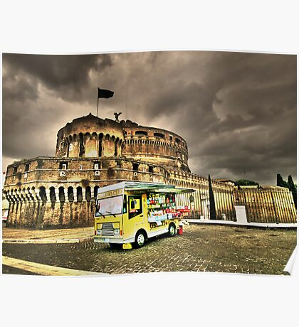 Gelateria: Castel Sant'Angelo, Rome (HDR) Poster