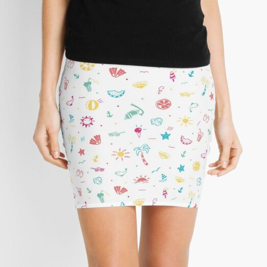 Summer time (white) Mini Skirt